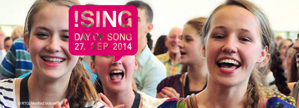 Sing mit! beim Day of Song!